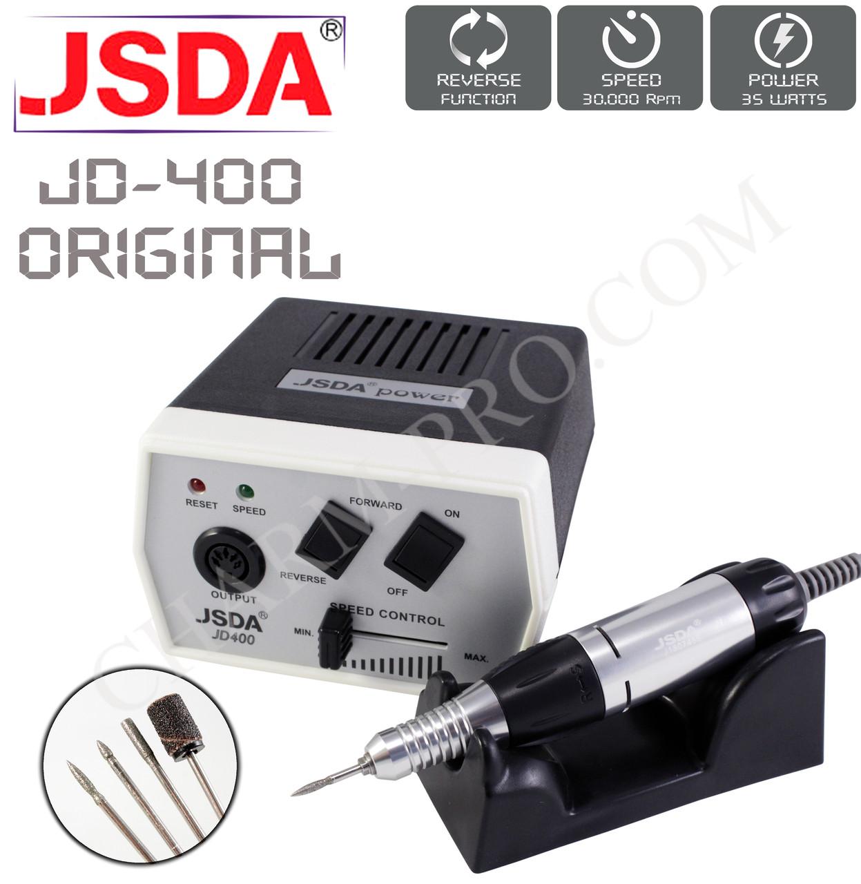 Фрезер для маникюра и педикюра JSDA JD-400 Оригинал (35W/30000об.мин.)