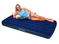 Односпальный надувной матрас Twin Downy Intex 68757 (191х99х22 см)