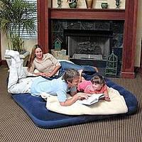 Надувной велюровый матрас двухспальный Bestway 67003