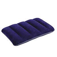 Подушка надувная с велюровым покрытием Intex 68672