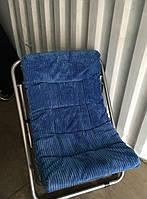 Кресло раскладное туристическое велюровое для отдыха на природе на дачу кресло кемпинговое
