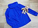Теплый ярко синий микрофлисовый худи на девочку Old Navy (США) , фото 3