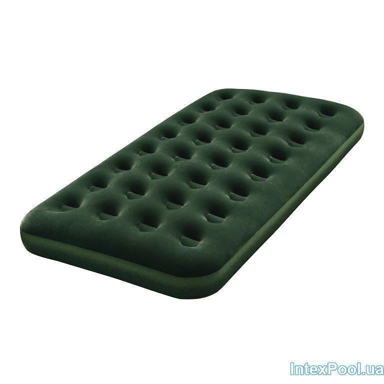 Матрас надувной односпальный Bestway 67446, зеленый, 185 х 76 х 22 см