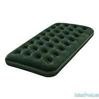 Матрас надувной односпальный Bestway 67446, зеленый, 185 х 76 х 22 см , фото 1