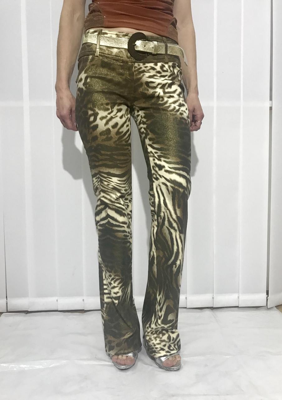 Джинсы Balizza леопард коричневые женские оригинал