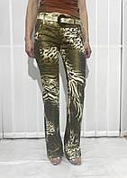 Джинсы Balizza леопард коричневые женские оригинал, фото 1