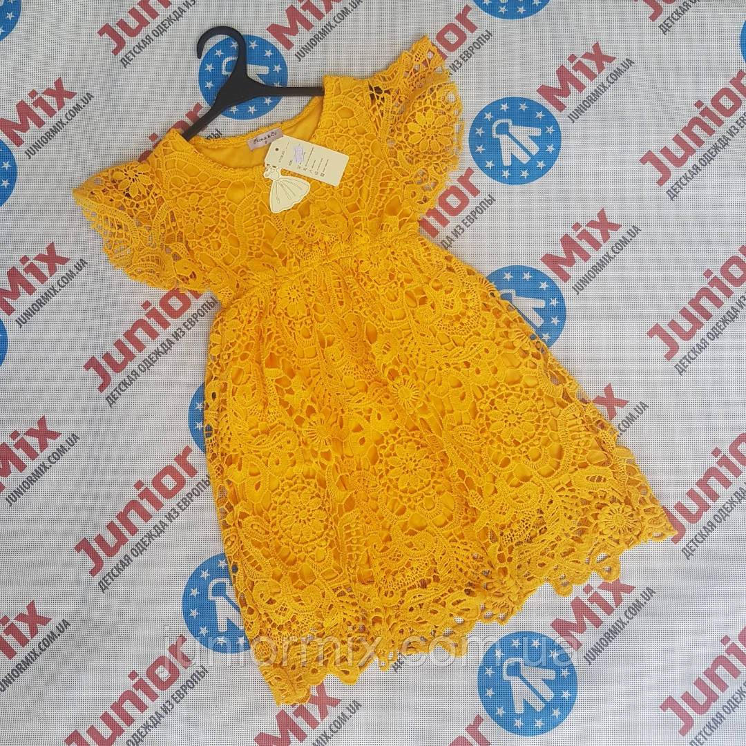 Детские гипюровые платья для девочек оптом  Feshion. ИТАЛИЯ