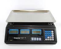 Весы торговые ACS 50kg/5g 208, торговые настольные электронные весы, весы c аккумулятором на 6V, фото 1