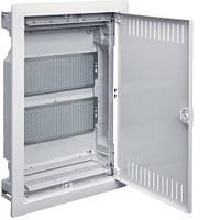 Щит HAGER VOLTA VU24NWB, 2-х рядный скрытого монтажа, для медийных разводок, металлическая дверь
