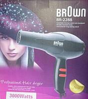 Фен для волос Brown BR-2288 мощный фен 3000 вт для домашнего использования, фото 1