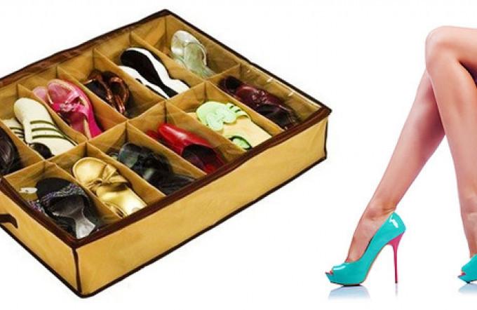 Органайзер для обуви Shoes Under Шуз Андер бля обуви ящик на 12 пар