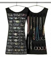 Органайзер для украшений Маленькое черное платье подвесной органайзер для бижутерии