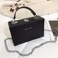 Маленькая женская прямоугольная сумка книжка JingPin черная