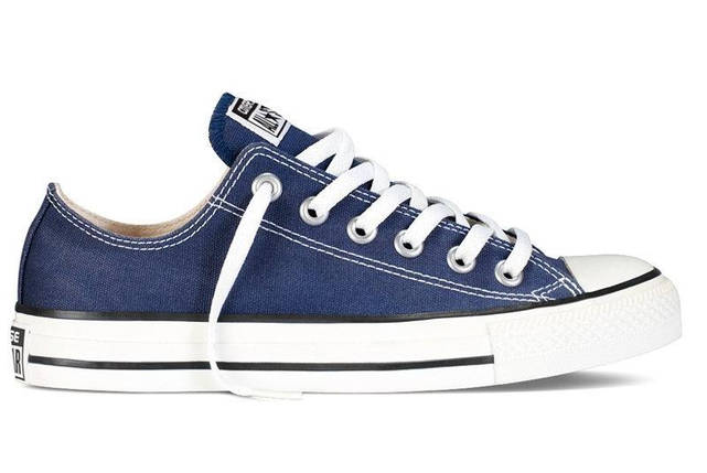 Кеды Converse All Star низкие Replica (реплика) темно-синие New Styles, фото 2