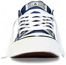 Кеды Converse All Star низкие Replica (реплика) темно-синие New Styles, фото 3