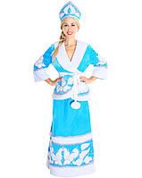 Детский карнавальный костюм Снегурочка с бубонами