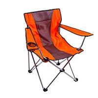 Кресло туристическое складное KB 002 стул с спинкой для кемпинга с подлокотниками для рыбака