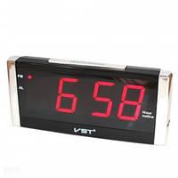 Часы настольные электронные светодиодные с красным дисплеем VST 731T-1
