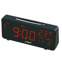 Часы многофункциональные VST 763W-1 будильник светодиодный