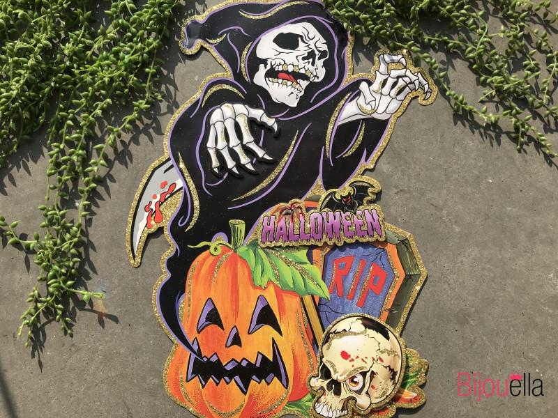 Декор на Хэллоуин наклейка ведьма, призрак, череп страшный аксессуар на HALLOWEEN