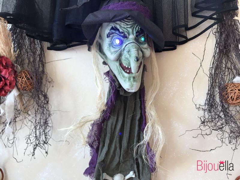 Очень страшный декор ведьмы с светящими глаза украшение дома, вечеринки на хэллоуин