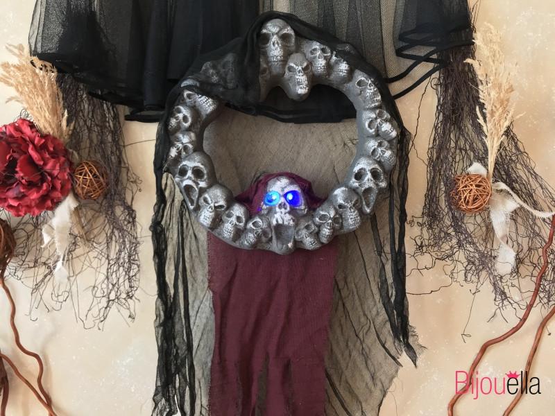 Украшение дома, вечеринки на хэллоуин страшный декор, венок с черепами подвесной