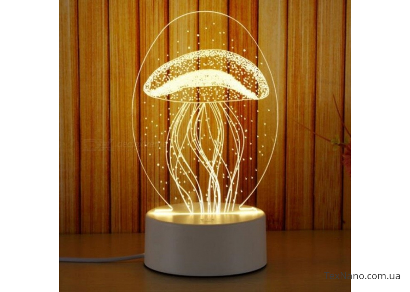 """Трехмерный светодиодный светильник 1113 """"Медуза"""", лампа для яркого интерьера дома"""