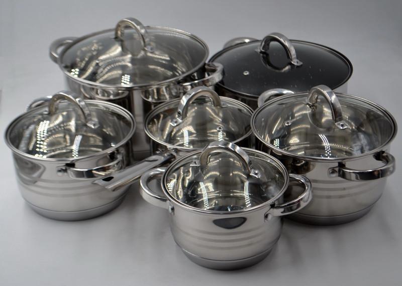 Benson BN-230 набор посуды из 12 предметов набор кастрюль из нержавеющей стали