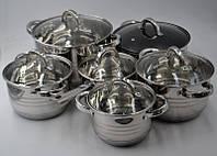 Benson BN-230 набор посуды из 12 предметов набор кастрюль из нержавеющей стали, фото 1