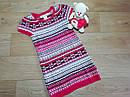 Стильное вязаное платье туника с орнаментом с люрексовой нитью H&M (Англия) (Размер 6-8Т), фото 2
