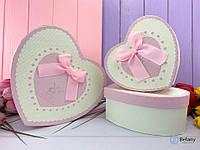 Коробка-сердце нежно-розовая подарочная коробка MILL для подарка набор 3 шт разные размеры для девушки