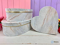 Упаковка для подарка девушке набор 3 шт сердце-коробка картонная для косметики шкатулка
