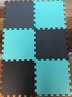 Коврик-пазл, ластівчин хвіст, 50х50 см, шахи т. 8-10 мм, EVA, щільність 90-100 кг/м3, набір 6 шт. TERMOIZOL®