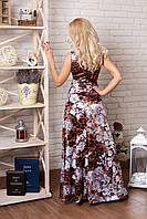 Нарядное вечернее платье с орнаментом гипюра