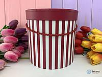 Круглая подарочная коробка для цветов COLOR LINES оригинальный подарок на день рождение праздник