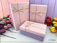 Декор интерьера коробки-подарки квадратные классические упаковка для подарка розово-лиловый цвет