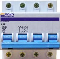 Автоматичний вимикач УКРЕМ ВА-2002 4р (3+N) 50А АСКО
