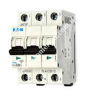 Автоматичний вимикач  PL4-C20/3 EATON