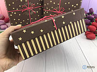 Прямоугольная подарочная коробка с звездами на подарок STARS оригинальный декор интерьера