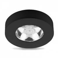 Светодиодный светильник downlight LED AL520 5W 4000K черный диаметр 75 мм высота 18 мм накладной