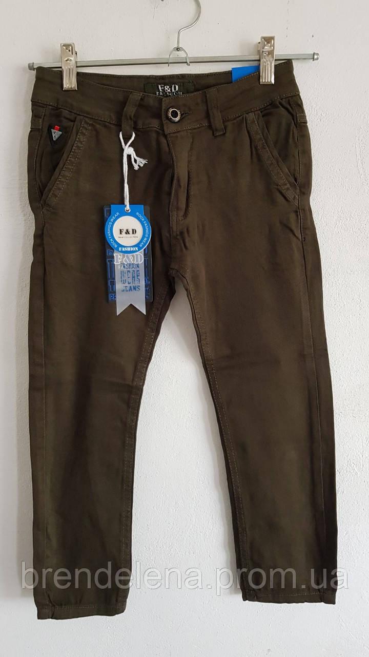 Коттоновые брюки Олива  13-15 лет