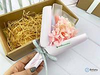 Прекрасный нежный букет из сухих цветов колоски розовые цветы композиция