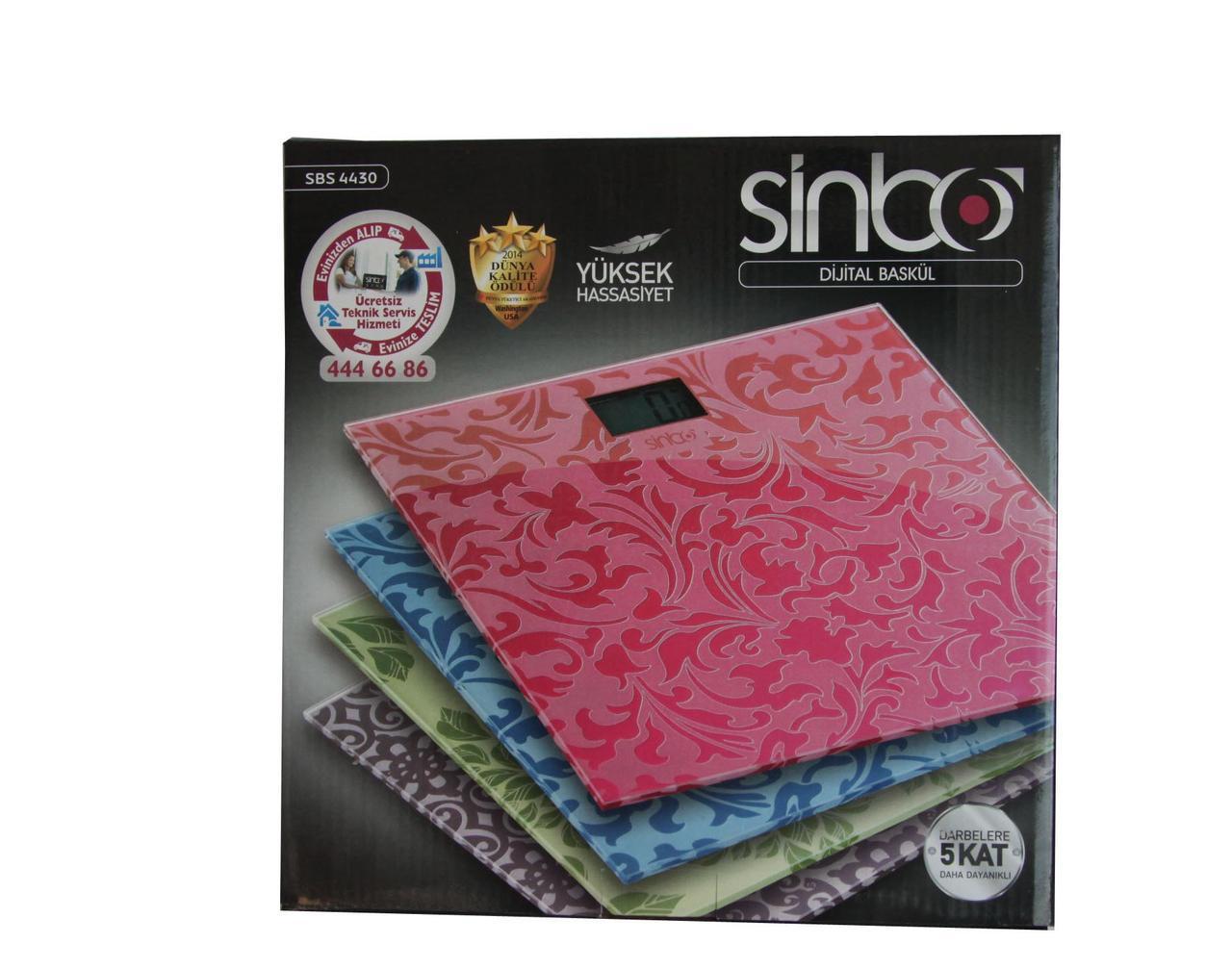 Весы напольные SINBO 4430 электронные бытовые до 150 кг платформенные весы
