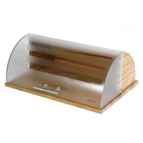 Компактная хлебница Bohmann BH-7255 дерево с пластиком для любого интерьера кухни