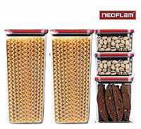 Набор емкостей для круп 5 шт Neoflam 0.84L*2/ 1.8L/ 3.6L*2 , фото 1