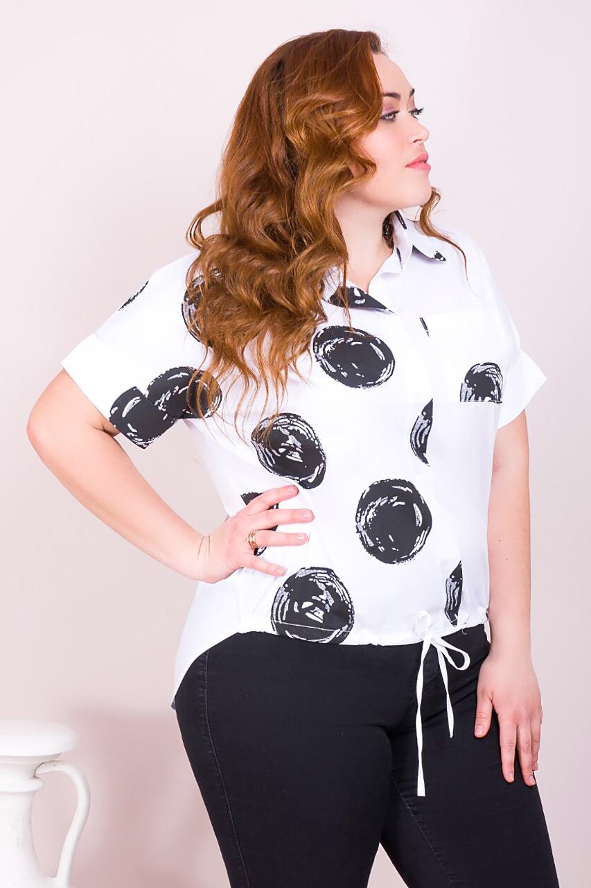 Модна сорочка з великим принтом 48-50 (в кольорах)