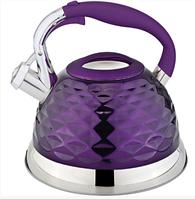 Чайник Rainstahl RS 7634-27 чайник 2.7 л с нержавеющей стали со свистком 4 цвета, фото 1