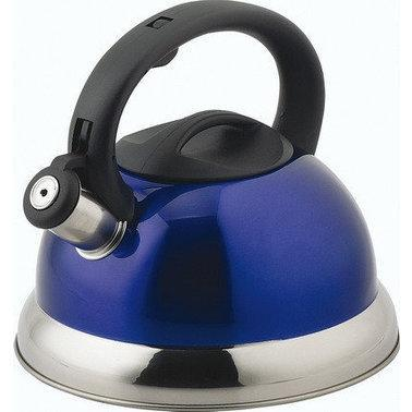Синий чайник ВHL 872 P/R/B кухонный чайник со свистком многослойное дно 3.5 л