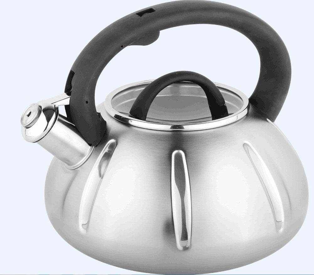 Наплитный чайник со свистком Bohmann BH-9918 3 л металлический чайник