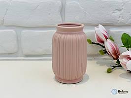 """Розовая керамическая ваза """"FLEX"""" нежное дополнения декора ваза из керамики"""